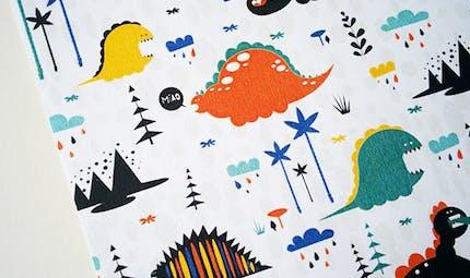 Papier à motifs Dino à imprimer