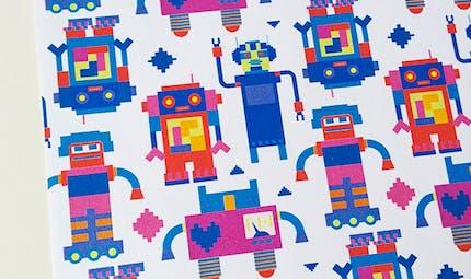 Papier à motifs Robot à imprimer