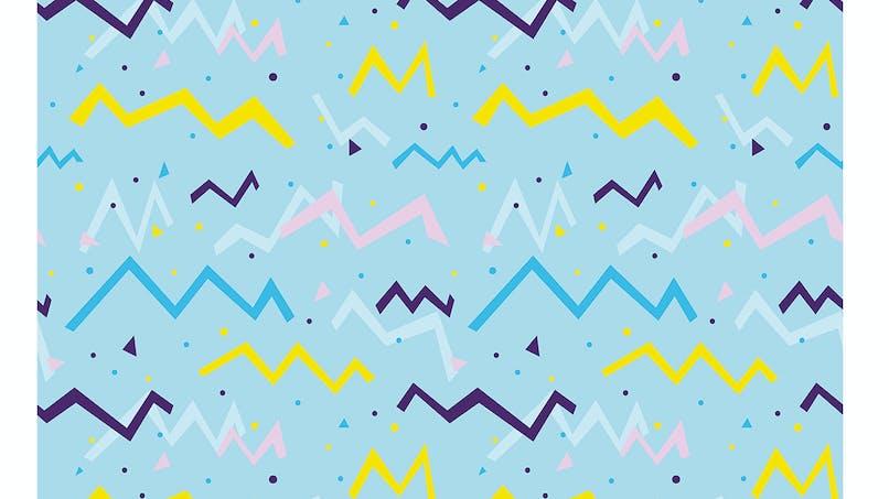 Papier motifs zig zag bleu à imprimer