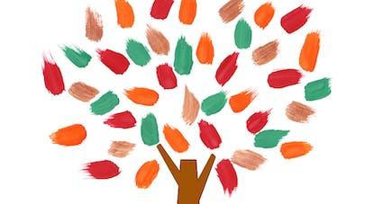 peinture au doigt automne maternelle