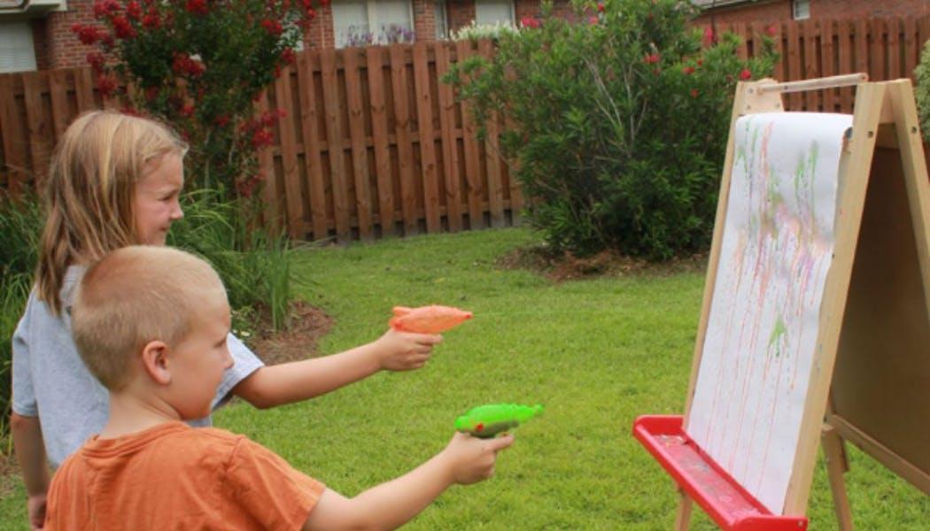 Peinture au pistolet à eau