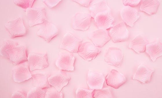 Pétales de roses cristallisés