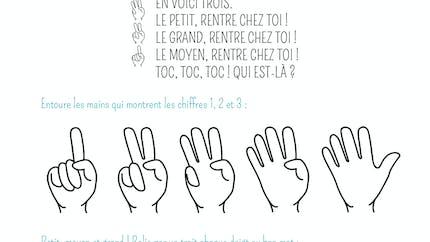 Petit exercice autour du texte : voici ma main