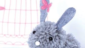 Un lapin en pompons