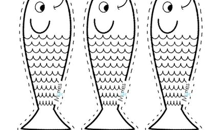 Petit poisson d'avril à imprimer