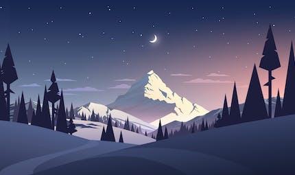 Petite lune de Noël