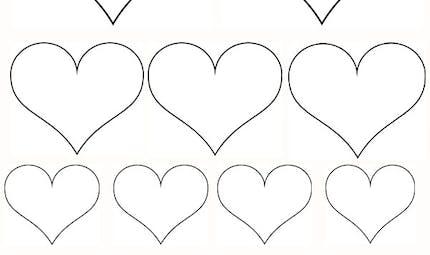 Petits coeurs et coeur gros