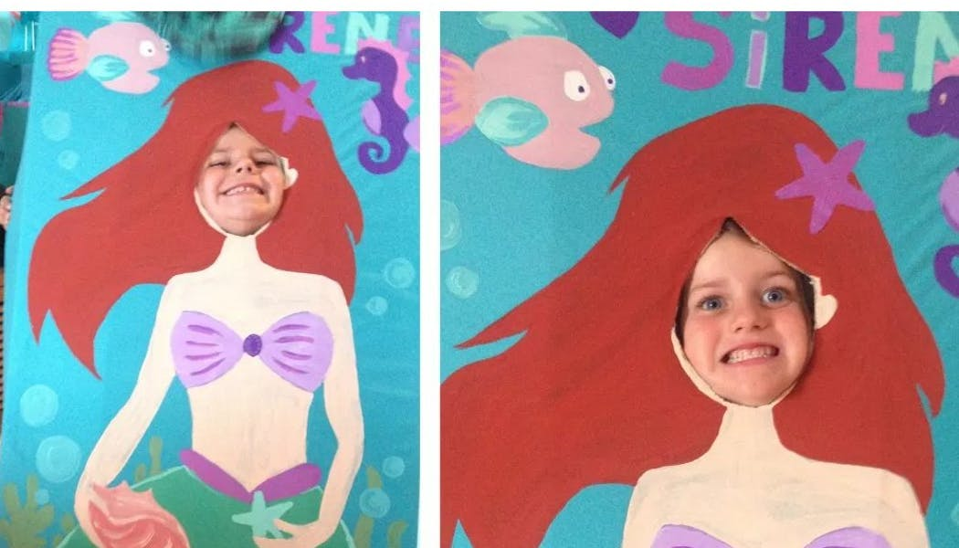Photobooth anniversaire sirène
