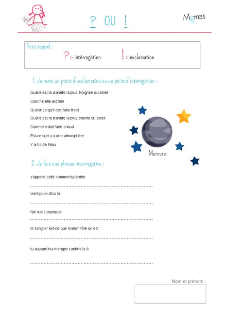 Phrases Interrogatives Et Exclamatives Momes Net