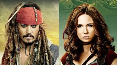 reboot pirates des caraïbes personnage féminin Karen       Gillan et Jack Sparrow