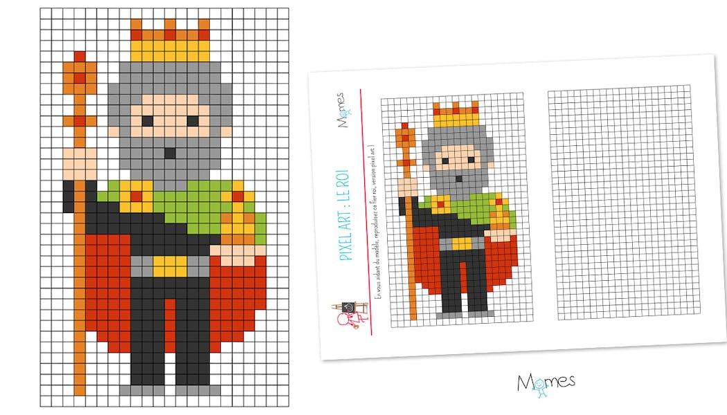 Pixel art : le Roi