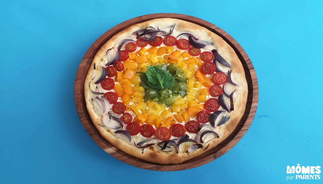 Pizza arc-en-ciel