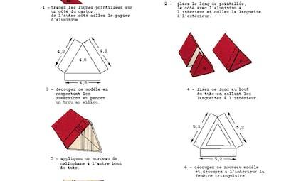 Plan pour réaliser un kaleidoscope