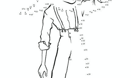 Le Petit Prince : l'Aviateur en points à relier