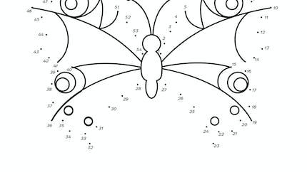 Points à relier : le papillon