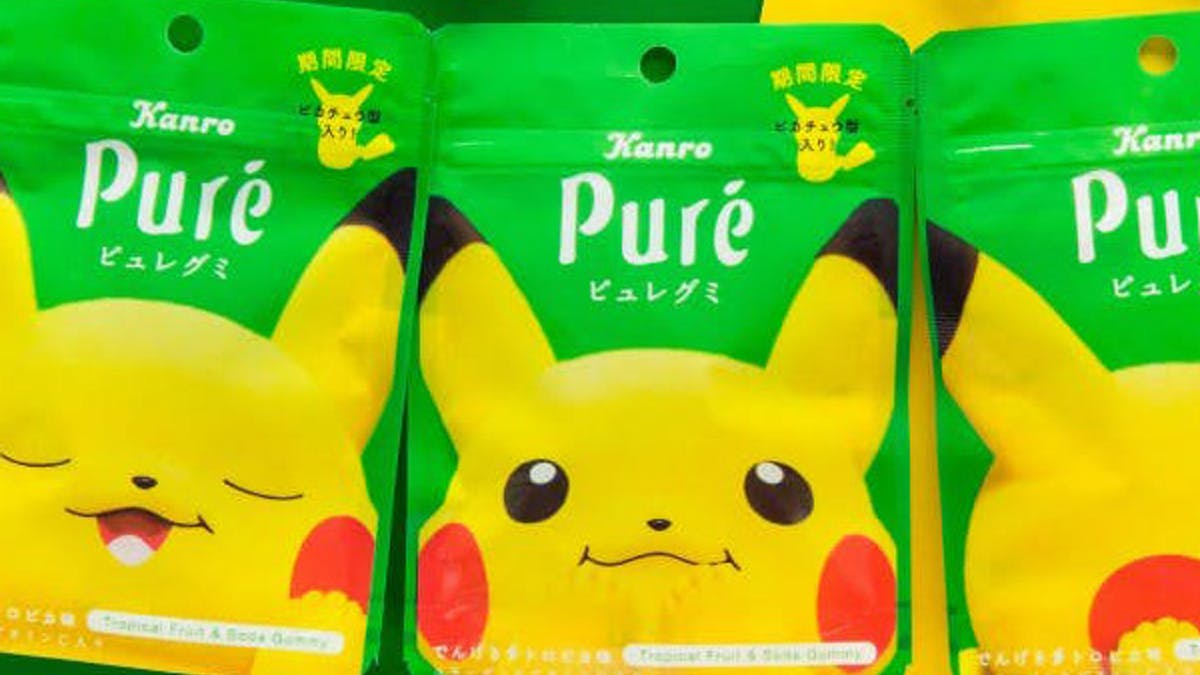 bonbons Pikachu goût électrique Pokémon