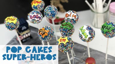 Pop Cakes de Super-Héros