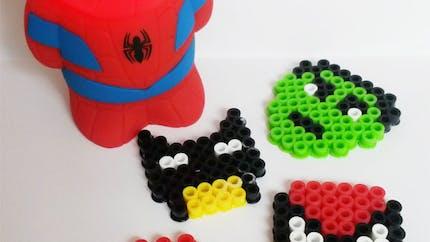 Porte-clés super-héros en perles chauffantes