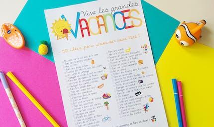 Poster 50 idées d'activités pour l'été !