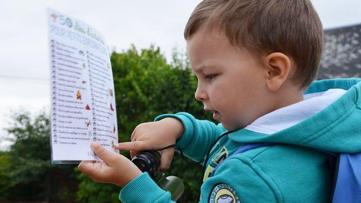 Poster 50 idées d'activités pour petits       explorateurs