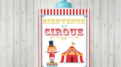 affiche cirque à imprimer