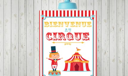 Poster cirque à imprimer