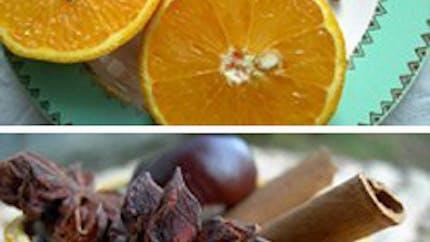 Pot-pourri dans son orange