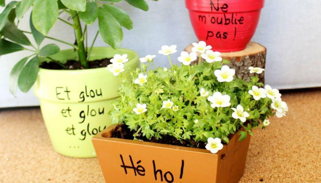 Pots de fleurs « message »
