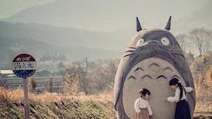 Pour leurs petits-enfants, ils créent un Totoro grandeur nature et son arrêt de bus