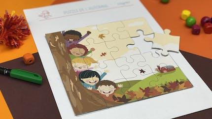 Puzzle de l'automne à imprimer