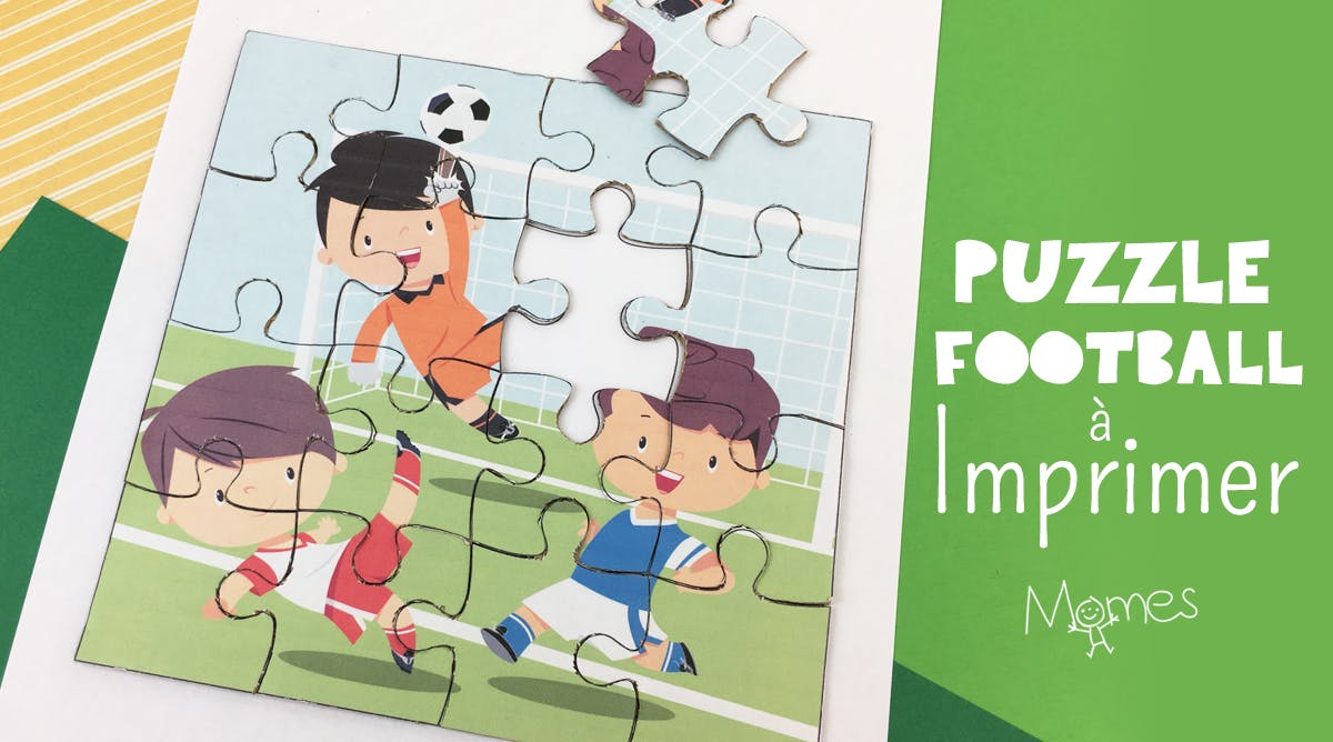 Puzzle Football A Imprimer Momes Net