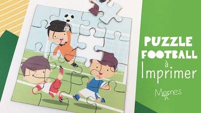 Puzzle Football à imprimer