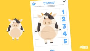 Puzzle numérique : la petite vache