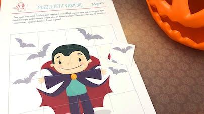 Puzzle Petit Vampire à imprimer