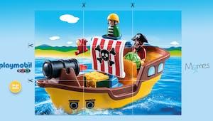 Puzzle Pirates Playmobil 123 à imprimer