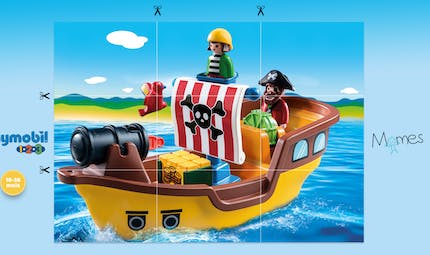 Puzzle Pirates Playmobil 123 à imprimer