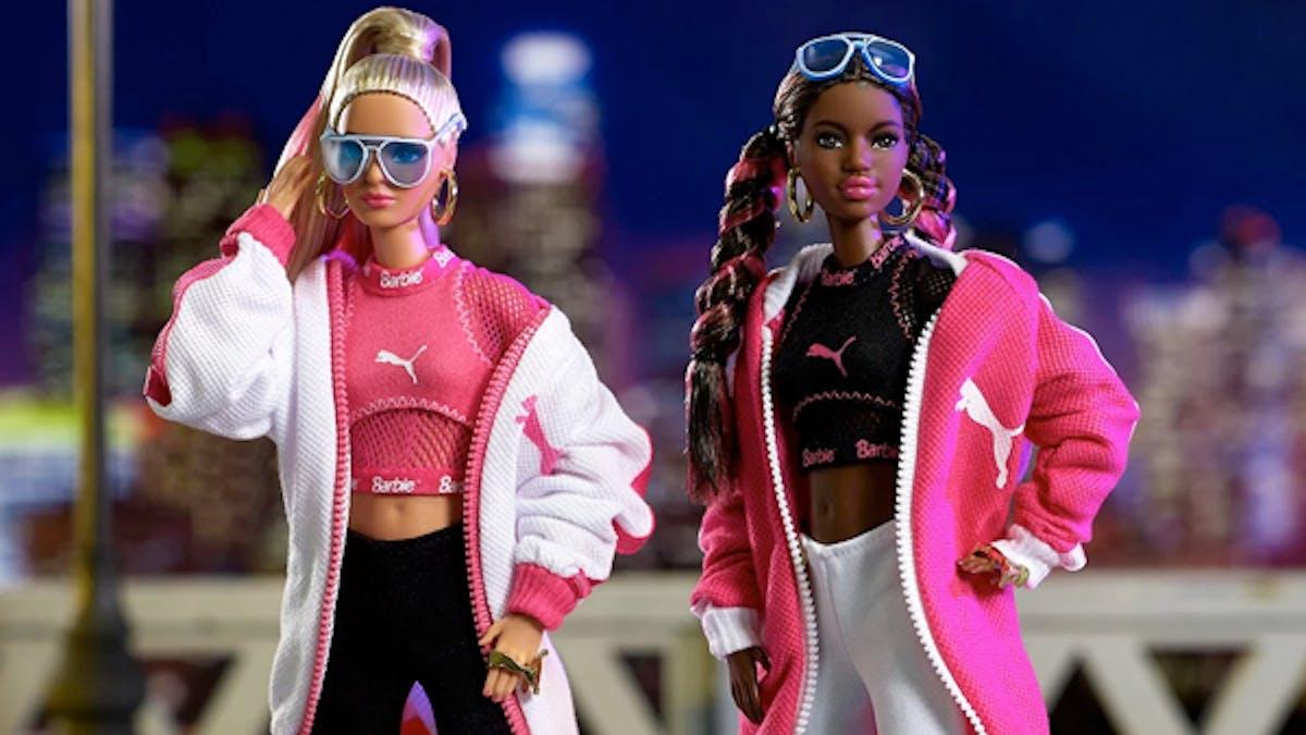 Barbie Puma poupées 50 ans basket Suede