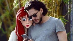 Quand des personnages de Disney se retrouvent sur les photos de célébrités...