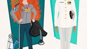 Quand un illustrateur invente de super jobs aux Princesses Disney !