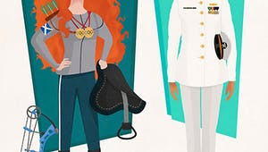 Quand un illustrateur invente de super jobs aux Princesses Disney !