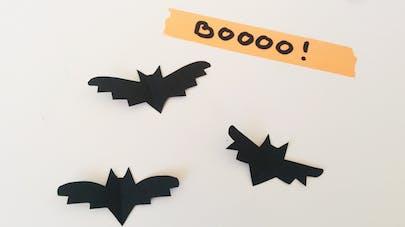 modele chauves souris en papier