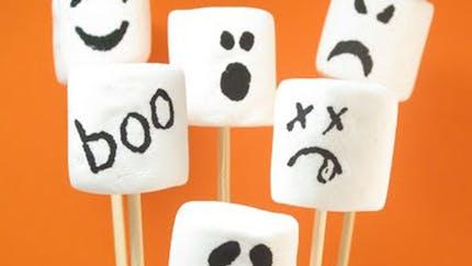 Les bonbons d'Halloween : chamallows fantômes !