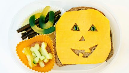 Bento d'Halloween citrouille