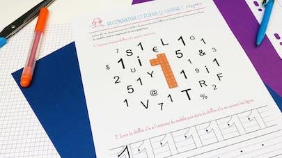 Reconnaître et écrire le chiffre 1