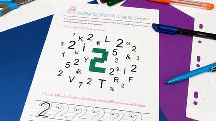 Reconnaître et écrire le chiffre 2