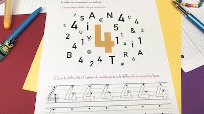 Reconnaître et écrire le chiffre 4