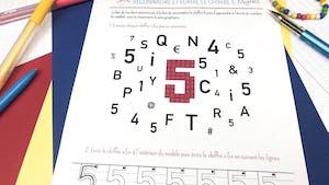 Reconnaître et écrire le chiffre 5