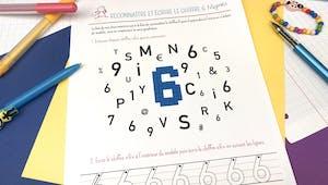 Reconnaître et écrire le chiffre 6