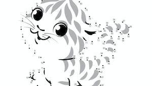Relier les points : Le tigre - de 1 à 91