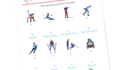 Relier les points : les sports d'hiver